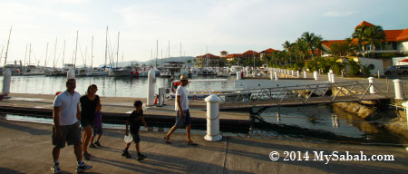 tourists at Sutera Harbour