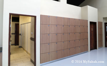 lockers and washroom