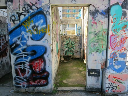 interior of graffiti area