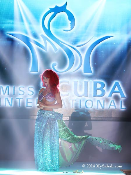 talent show by Miss Scuba Philippines