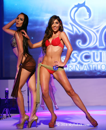 Miss Scuba Thailand and UK in bikini