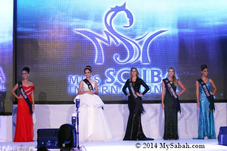 Top 5 of Miss Scuba International 2014
