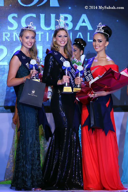 winners of Miss Scuba International 2014