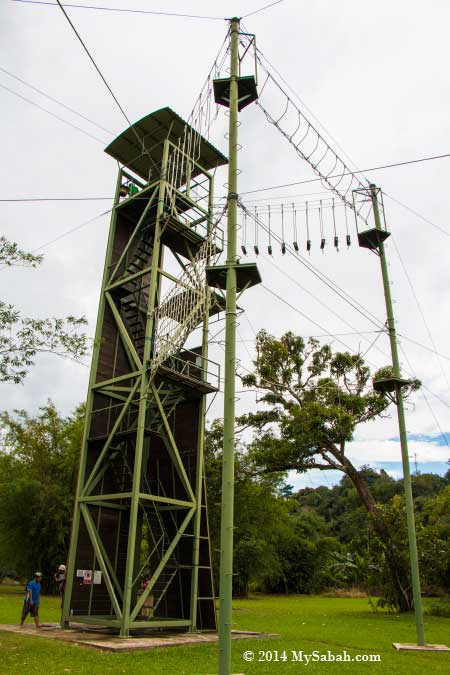 18-Meter tower of Zip Borneo