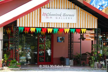 entrance of Chanteek Borneo Gallery
