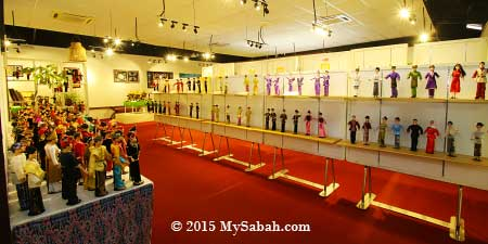 doll exhibition area of Chanteek Borneo Gallery