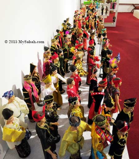 mini costume collections of over 40 Sabah ethnic groups