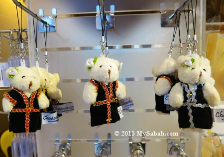 Kadazan bear phone strap