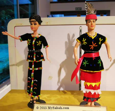 dolls of Murut couple