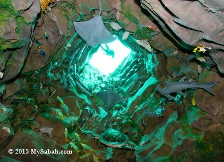 Sipadan deep dive diorama
