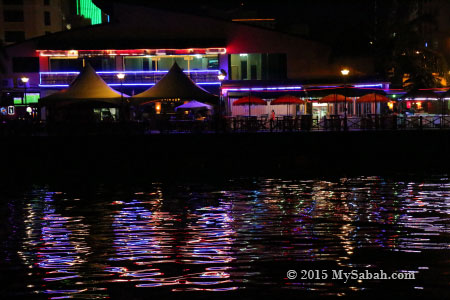 Waterfront of Kota Kinabalu city