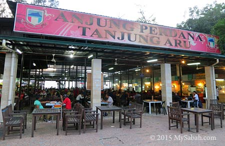 Anjung Perdana food court of Tanjung Aru Beach