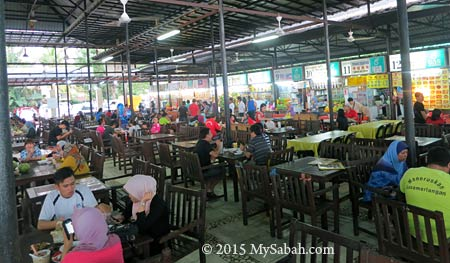 food court of Tanjung Aru
