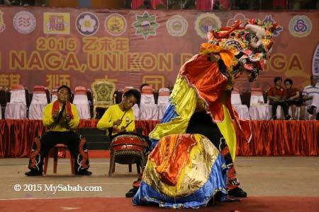 Qi-Ling lion dance