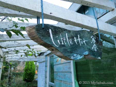 Little Hut signage