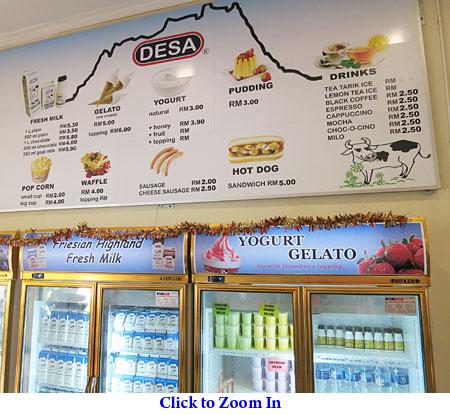 snacks menu of DESA