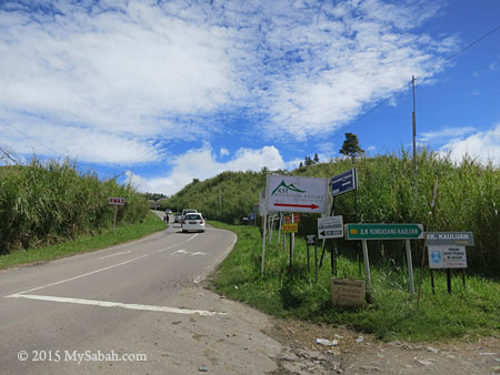 road to Desa Dairy Farm in Mesilau
