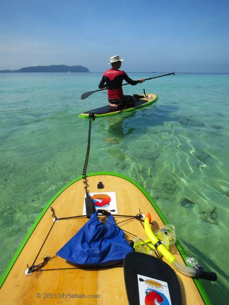 Borneo S.U.P in Sapi Island