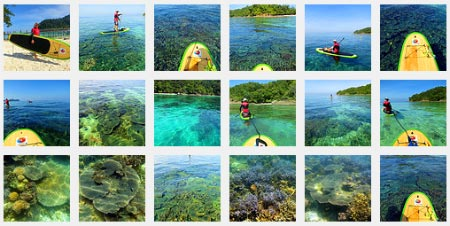 photo album of Sabah Stand Up Paddle Boarding