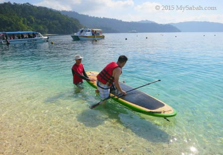 trying Stand Up Paddle Boarding