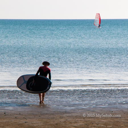 Stand-up paddle-boarding and windsurfing