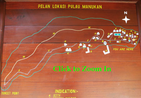 layout map of Manukan Island