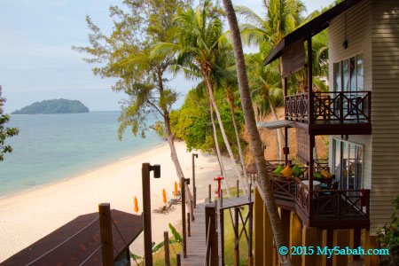 Beach Chalet (Tambun Chalet) of Manukan Island Resort