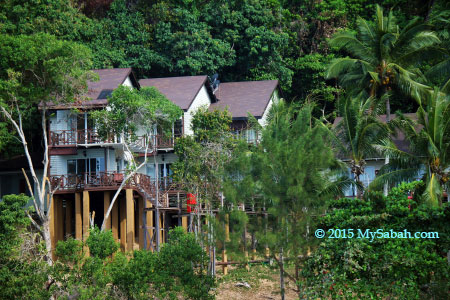 Hill Chalets (Todak Chalet) of Manukan Island Resort