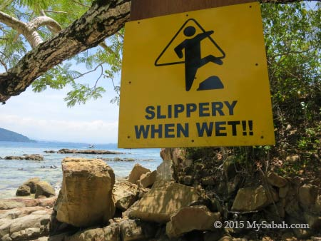 rocky area of Sapi Island