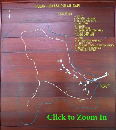 layout map of Sapi Island