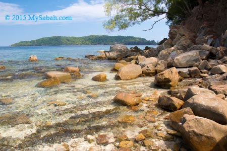 beach with rocks and boulders