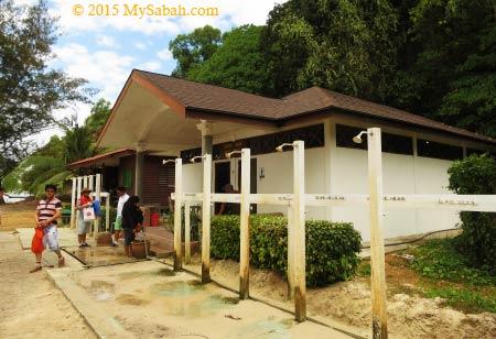 public toilet of Mamutik Island