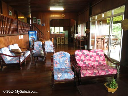living room of Kinabalu Mountain Lodge