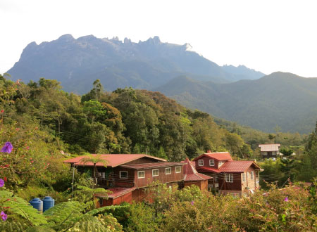 Mile 36 Lodge and Mt. Kinabalu