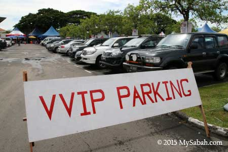 parking for VVIP