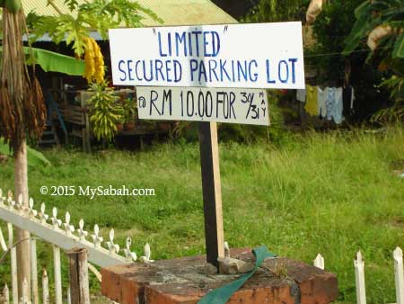 limited parking space