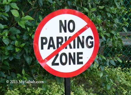 No-No parking zone