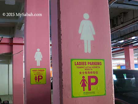 parking space for lady