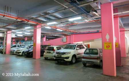 lady parking lot