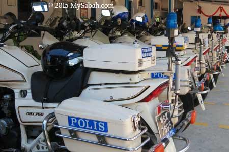 motorbike of traffic police