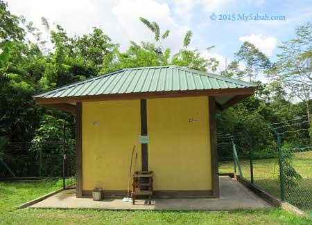 toilet stop at Bukit Taviu Forest Reserve