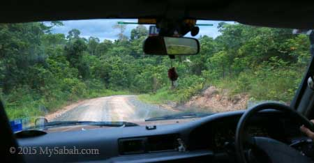driving to Deramakot forest