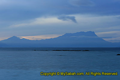 View of Mt. Kinabalu from Mantanani