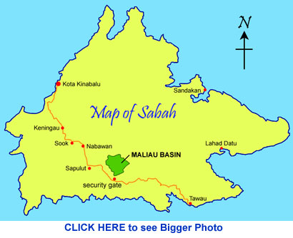 Location map of Maliau Basin