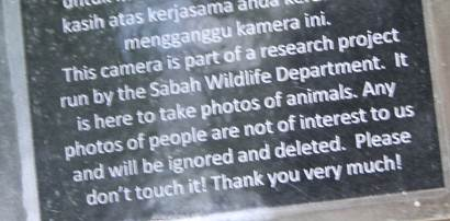 message on camera trap