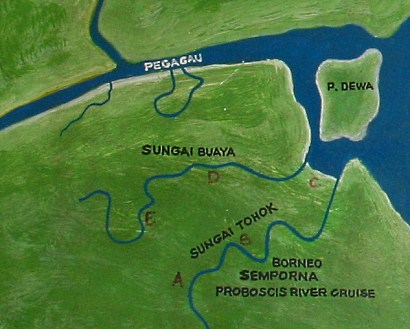 map for river cruise
