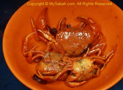 crab as food