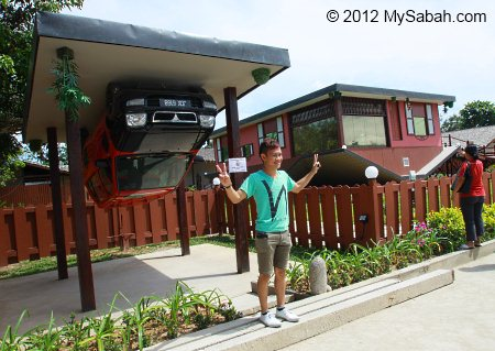 Upside Down House & Car