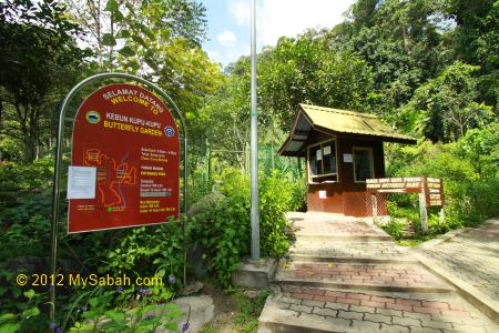 entrance to Butterfly Garden of Poring