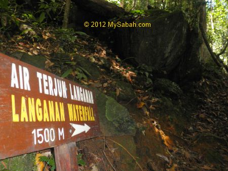 1,500 Meter to Langanan Waterfall